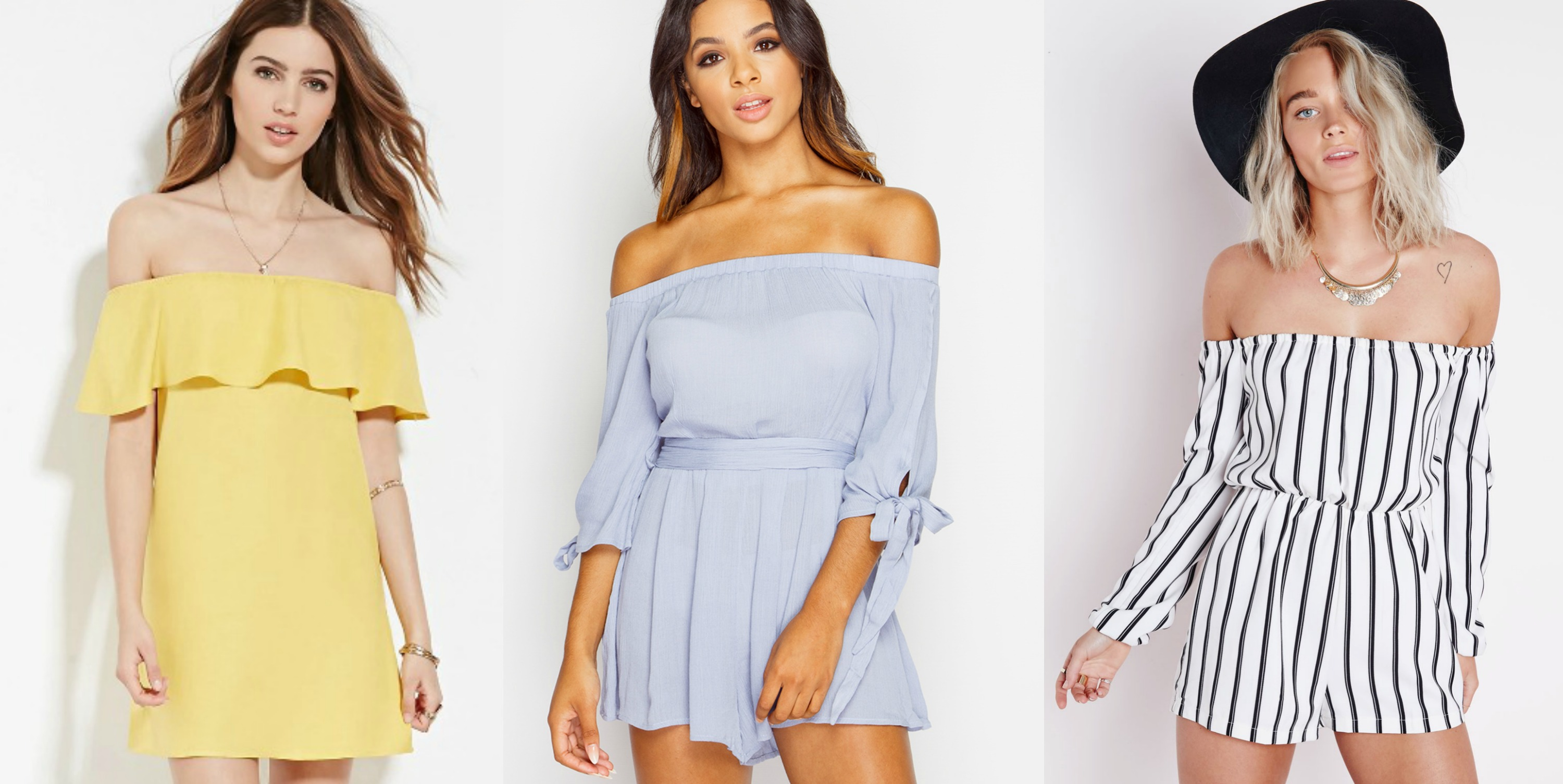 off the shoulder fashion trend