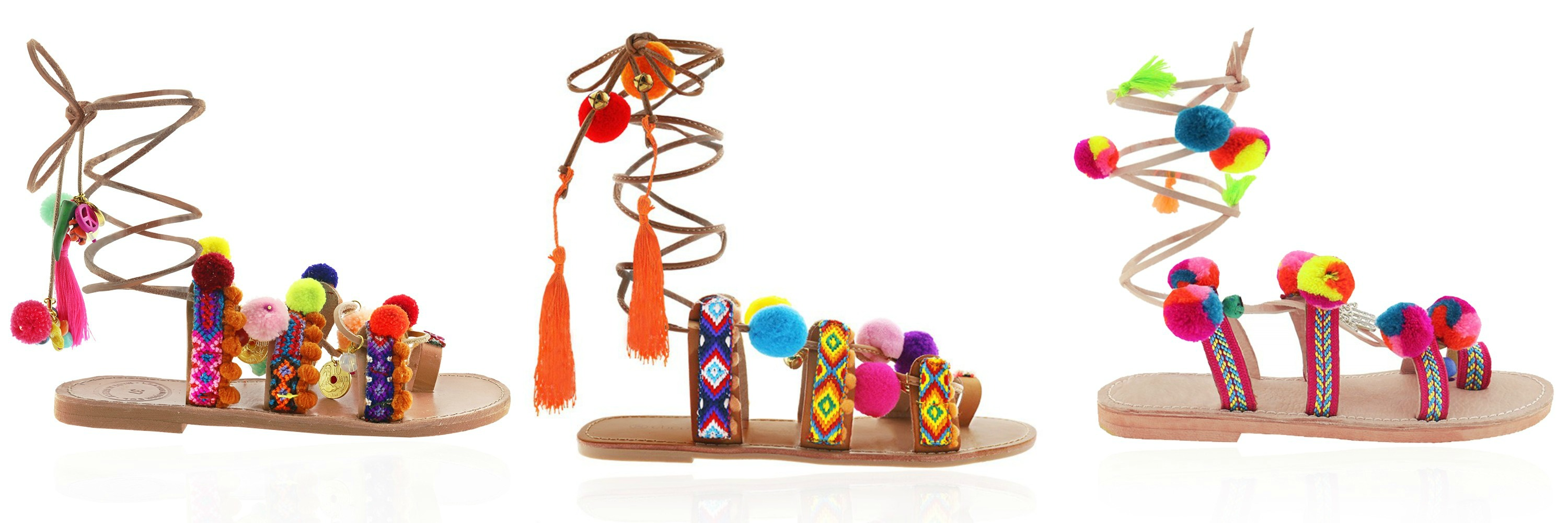 pom pom sandals summer shoes
