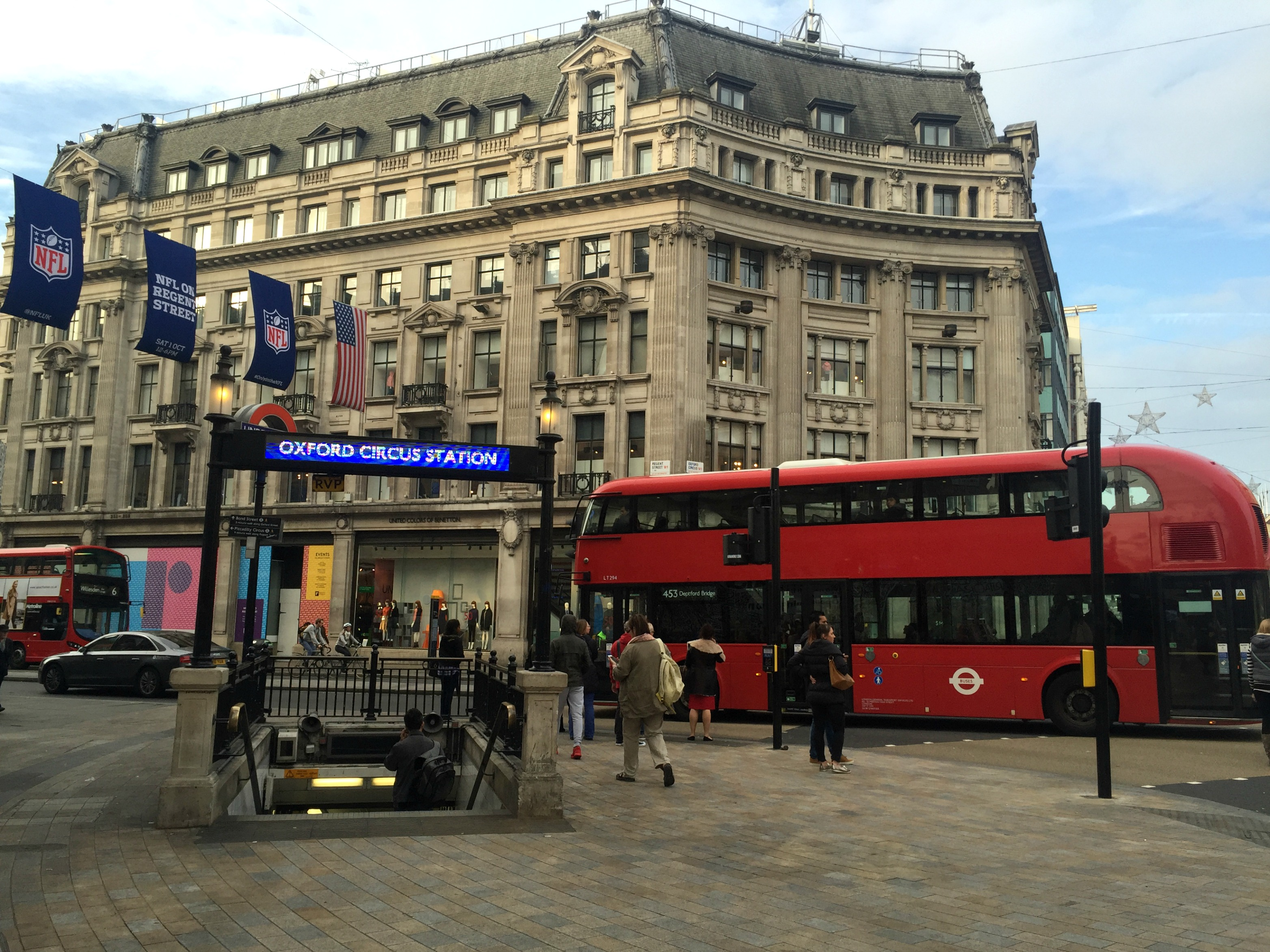 London Travel Diary oxford circus street
