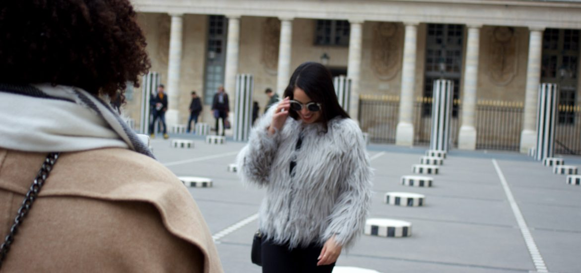 Faux Fur Outfit Paris