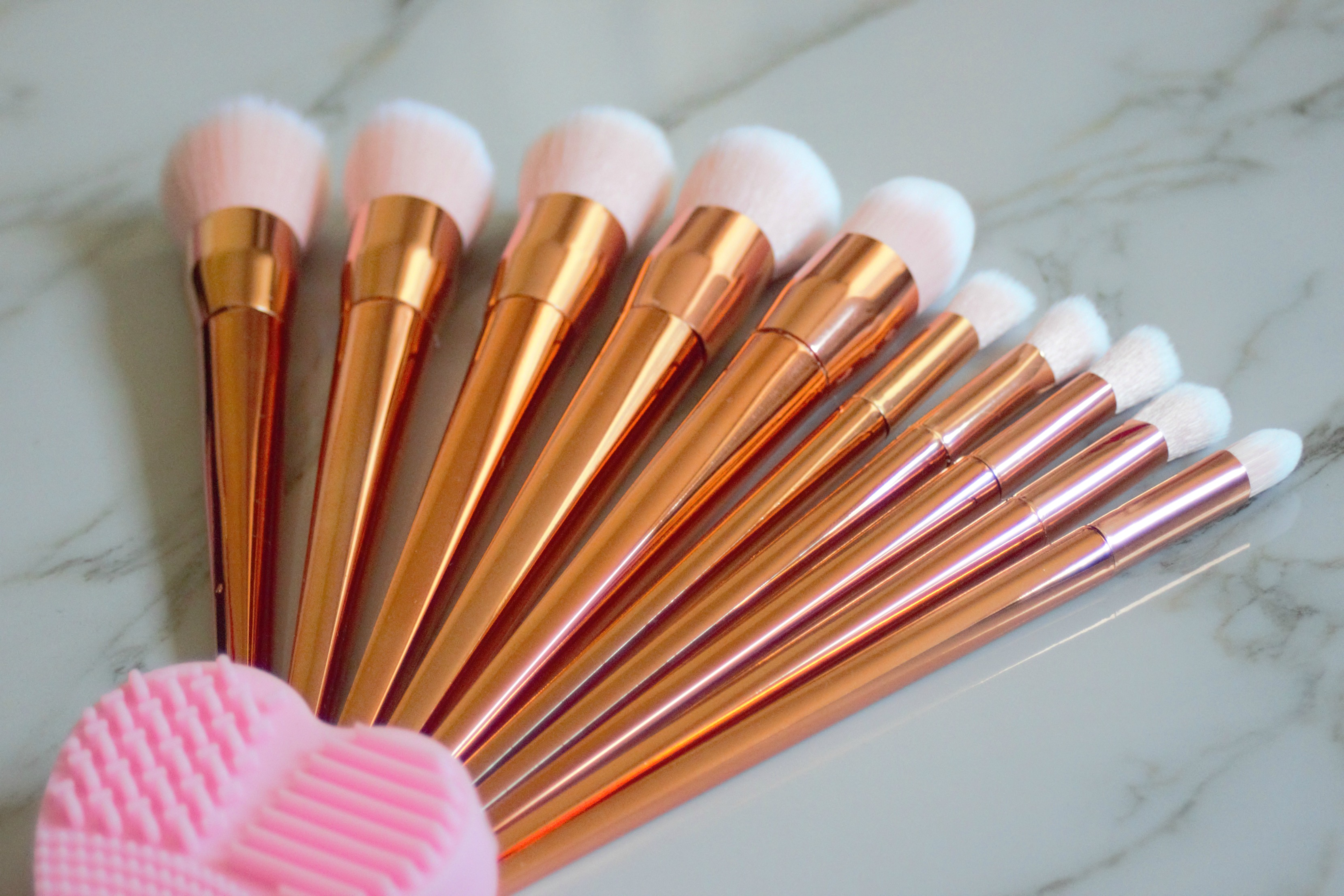 aliexpress rose gold makeup brushes