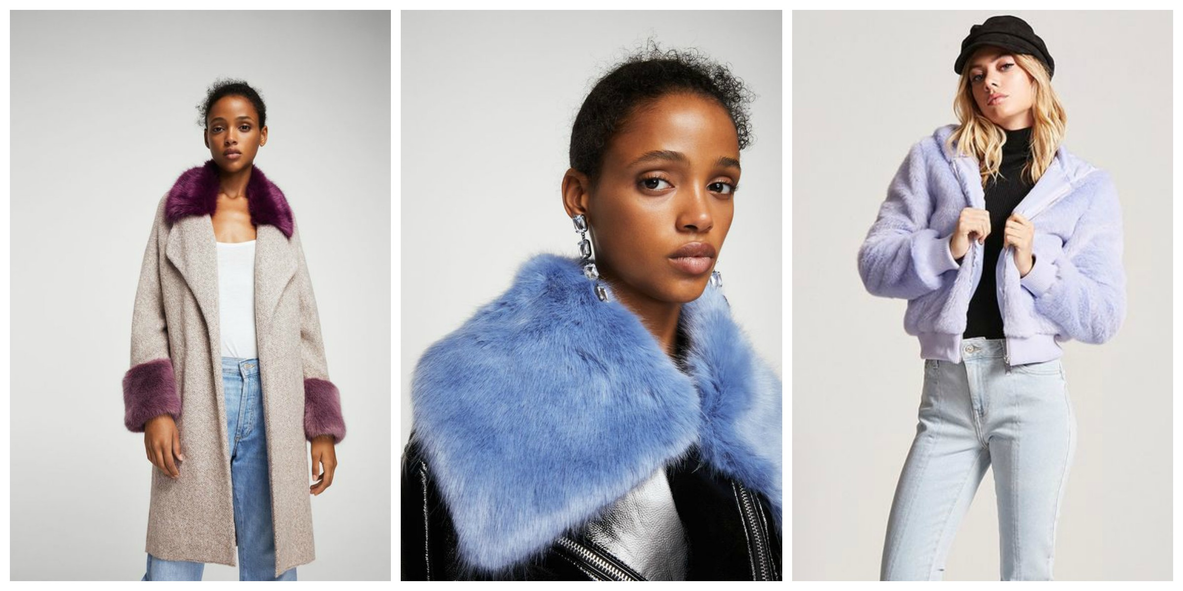 colored faux fur fashion